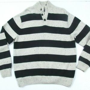 Chaps Striped Polo Style Sweater Large